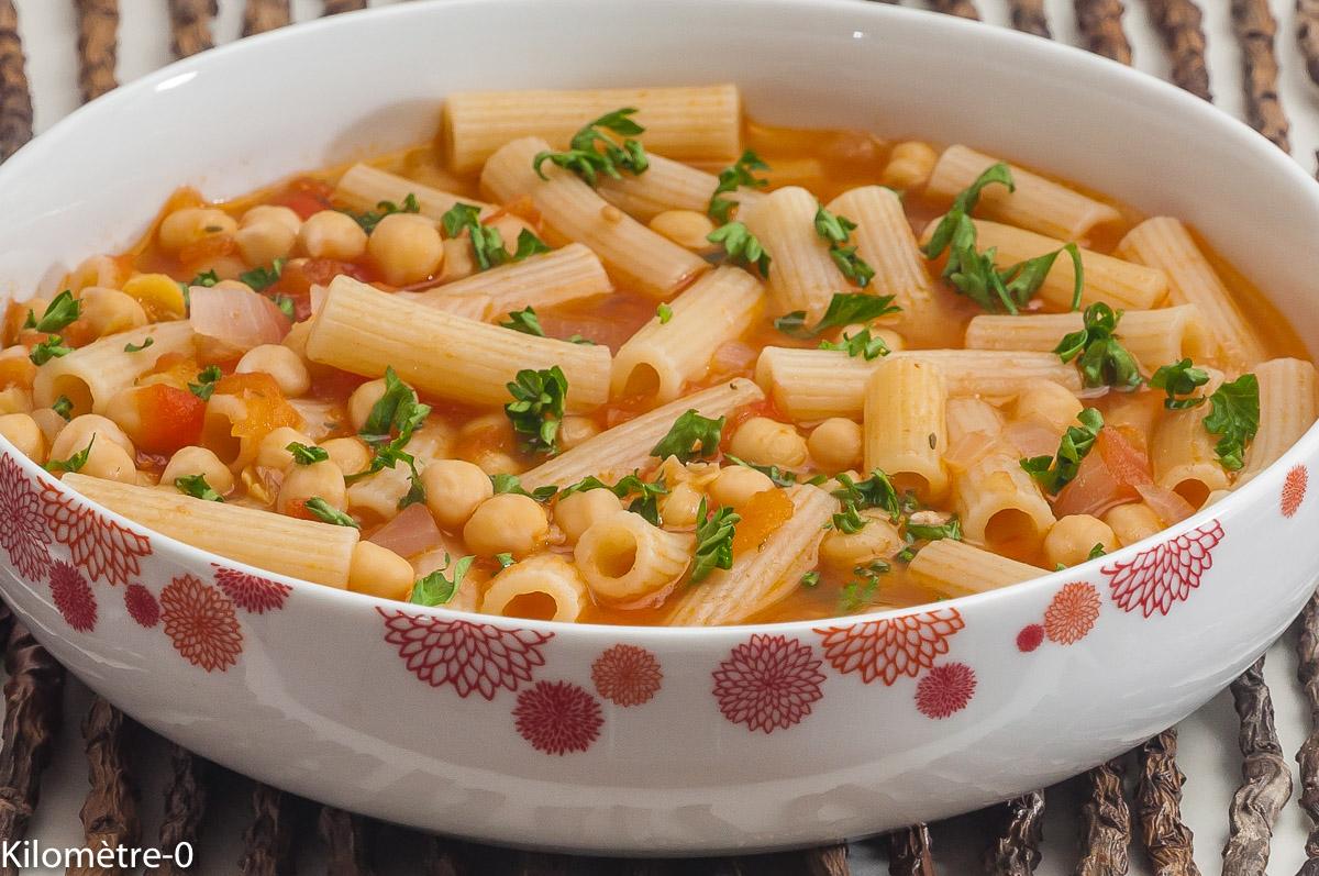 Photo Recette Soupe de Pois Chiches aux Pâtes