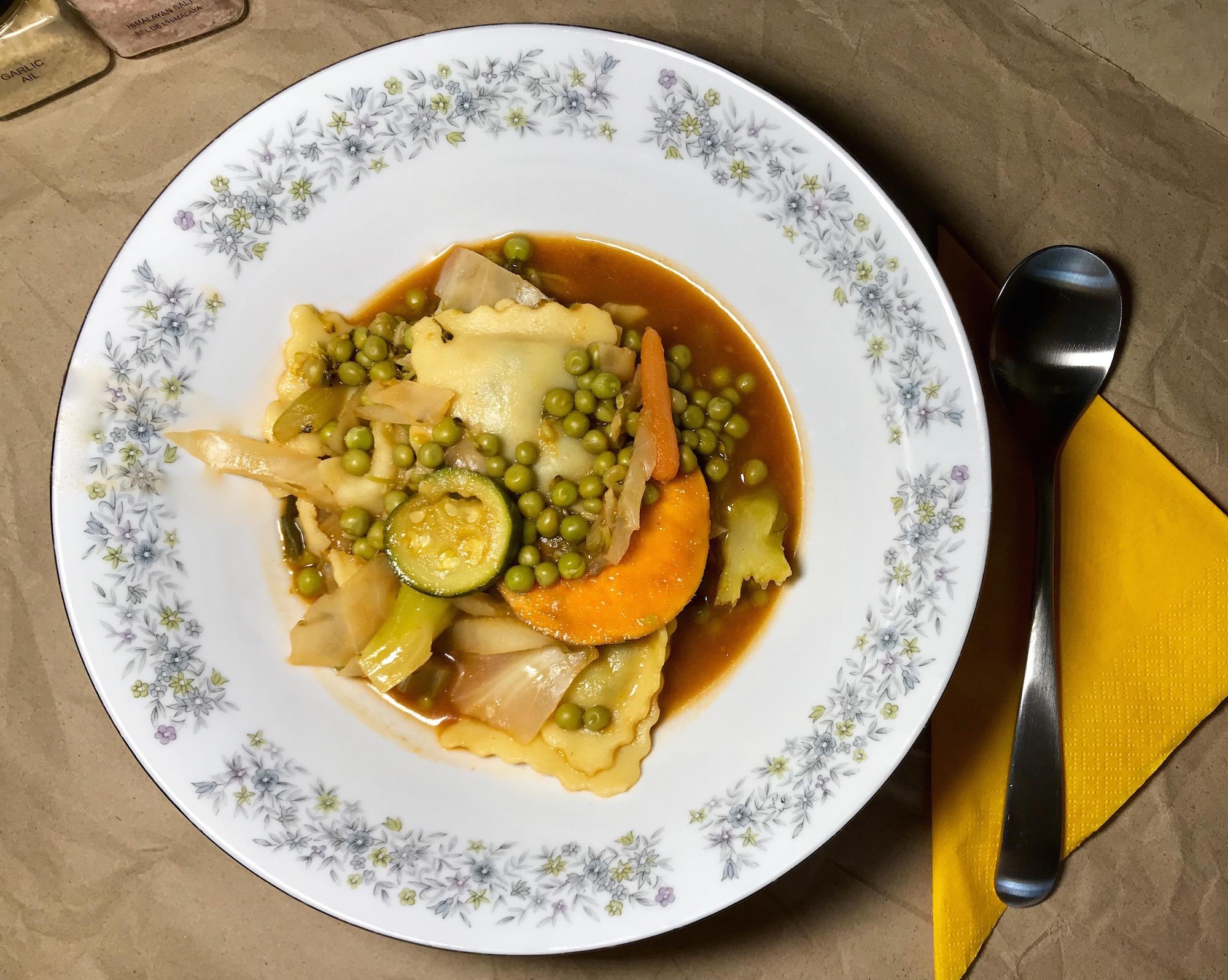 Photo Recette Soupe Repas de Rigatonis et Légumes