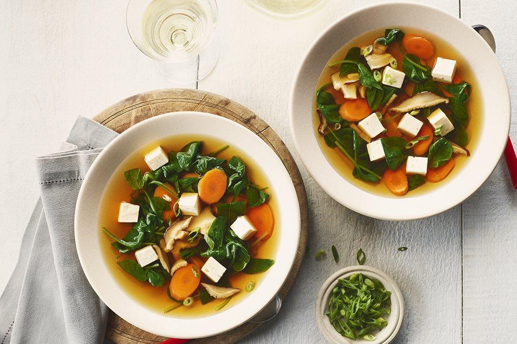 Photo Recette Soupe de Tofu de Carottes et D'épinards