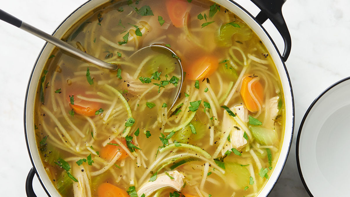 Photo Recette Soupe de Zoodles au Poulet