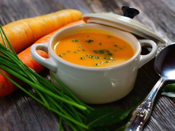 Soupe Froide de Carottes à L'orange