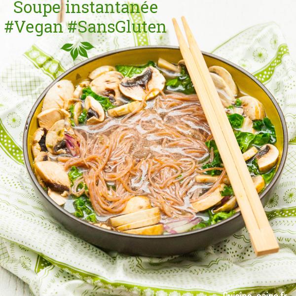 Soupe Instantanée Vegan Sans Gluten