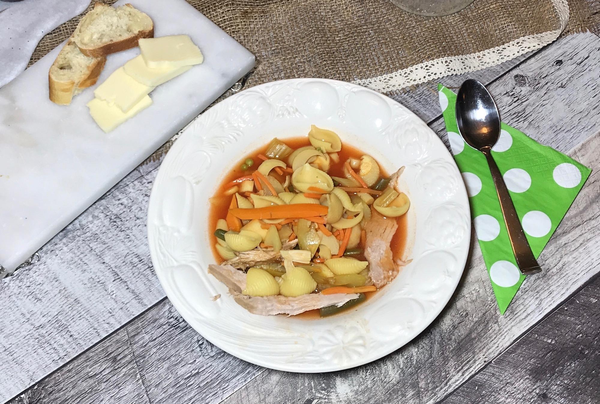 Soupe Légumes et Porc