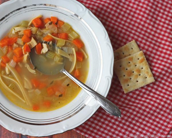 Photo Recette Soupe Poulet et Nouilles