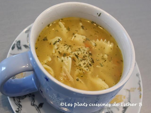Photo Recette Soupe Poulet et Nouilles Facile