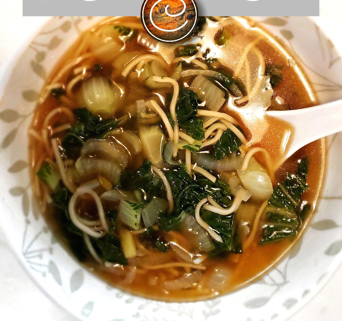 Photo Recette Soupe Ramen aux Minis Bok Choy Délicatement Délicieux…