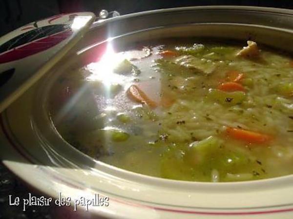 Soupe Réconfortante au Poulet et au Riz