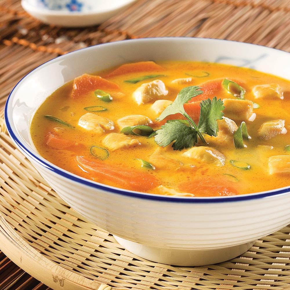 Photo Recette Soupe Thaïlandaise au Poulet et Coriandre