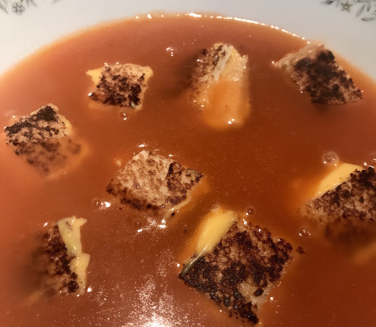 Photo Recette Soupe Tomates Grilled Cheese