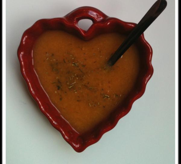 Photo Recette Soupe Veloutée aux 2 Poivrons pour la St-Valentin