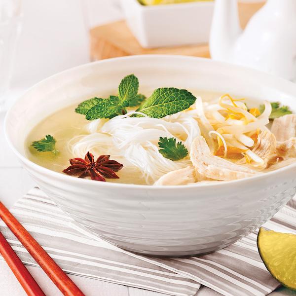 Photo Recette Soupe Vietnamienne au Poulet et Vermicelles de Riz