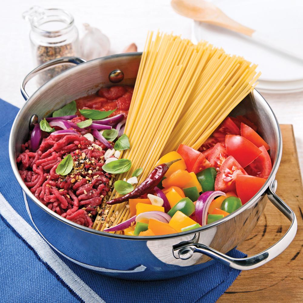 Spaghettis au Boeuf Haché Sauce Tomate