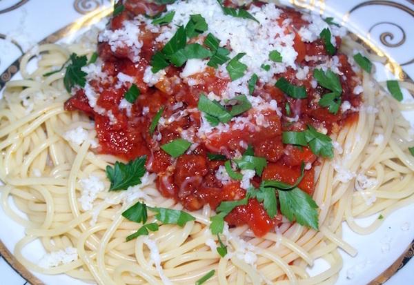 Photo Recette Spaghettis aux Merguez façon Bolognaise