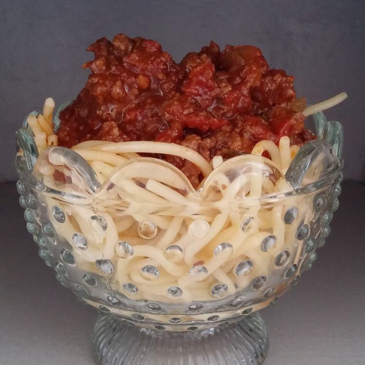 Photo Recette Spaghettis Bolognaise à la Jamie Oliver Sans Gluten ( ni lait ni oeuf )