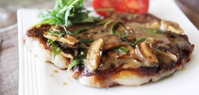 Photo Recette Steak aux Champignons