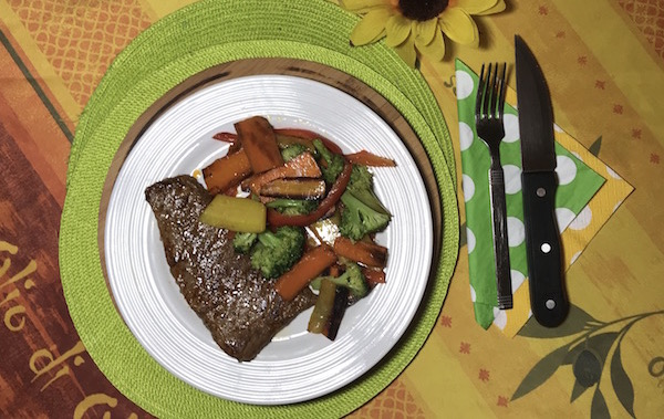Steak et Sauté de Légumes 2