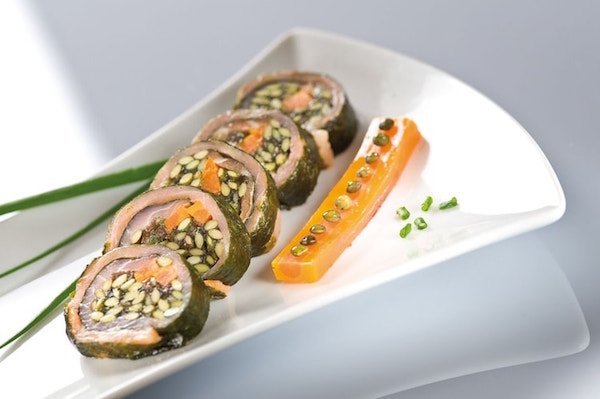 Sushi de Lentilles Vertes du Puy et Saumon Fumé