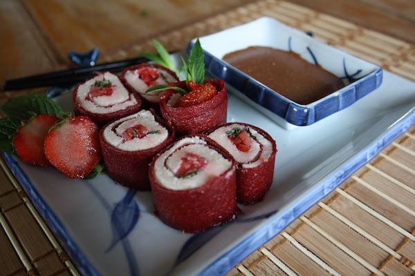 Sushis Dessert à la Fraise