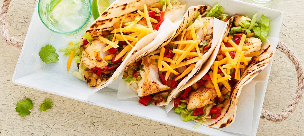 Tacos au Cheddar et au Poisson