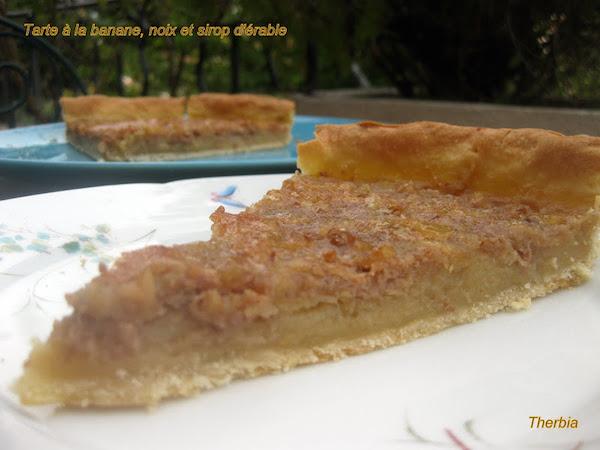 Tarte à la Banane, Noix et Sirop D'érable