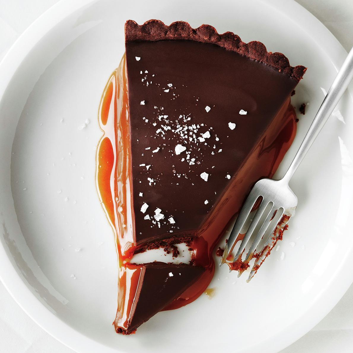 Tarte au Chocolat au Caramel et à la Fleur de Sel