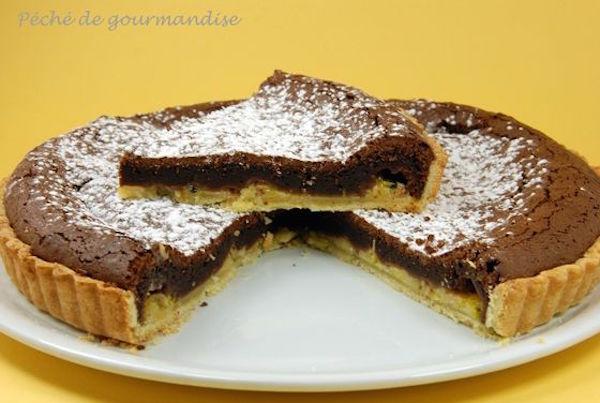 Tarte au Chocolat, Bananes et Fruits de la Passion