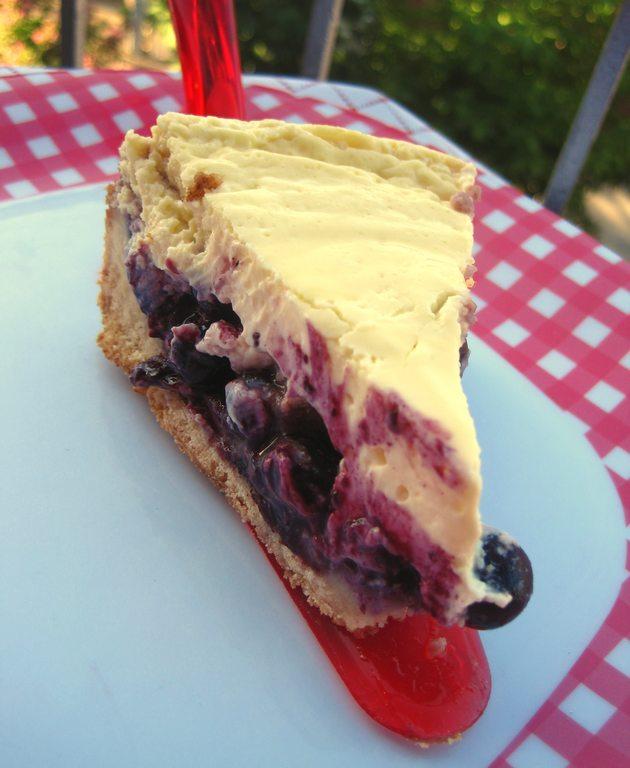 Tarte (gâteau) à la Crème Sûre (crème fraîche) et aux Bleuets (myrtilles)