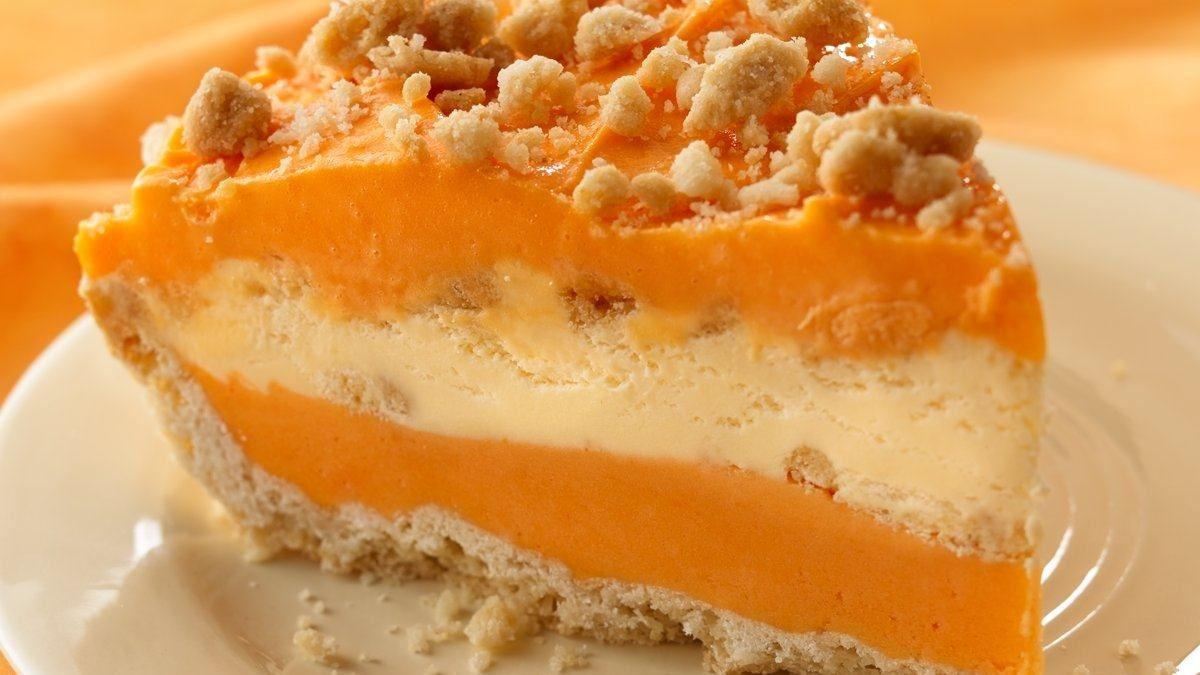 Tarte Onctueuse à la Crème Glacée à L'orange
