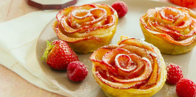 Photo Recette Tartelettes aux Pétales de Pommes et Confiture de Fraises-Framboises
