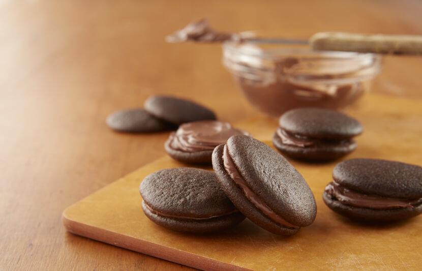 Tartelettes Whoopie Garnies De Chocolat