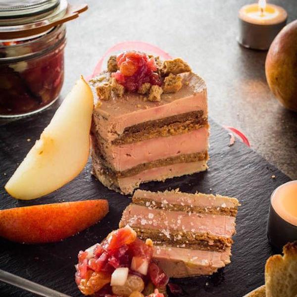 recette terrine de foie gras au speculoos chutney de poires circulaire en ligne. Black Bedroom Furniture Sets. Home Design Ideas