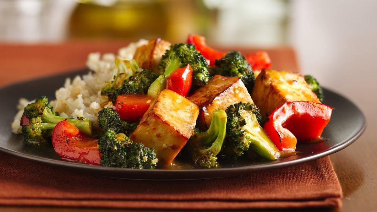 Tofu Orange et Sésame au Brocoli