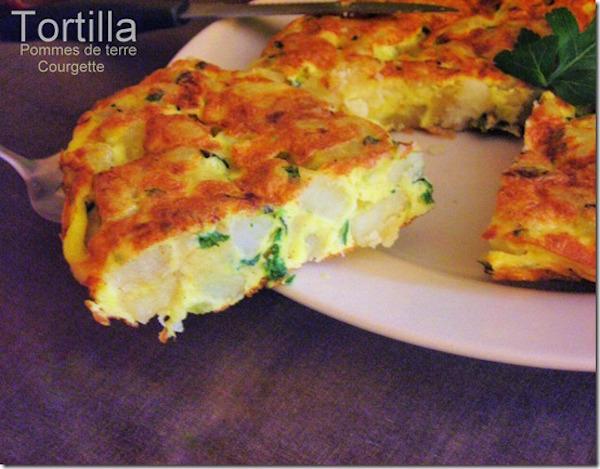 Tortilla aux Courgettes (omelette espagnole)