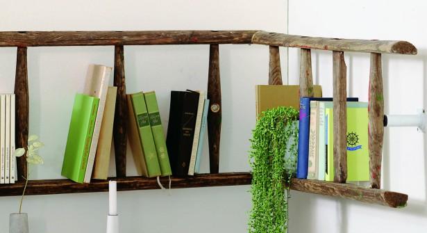 Transformer une Échelle en Bois en Bibliothèque