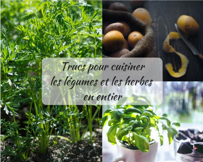 Trucs pour Cuisiner les Légumes et les Herbes en Entier