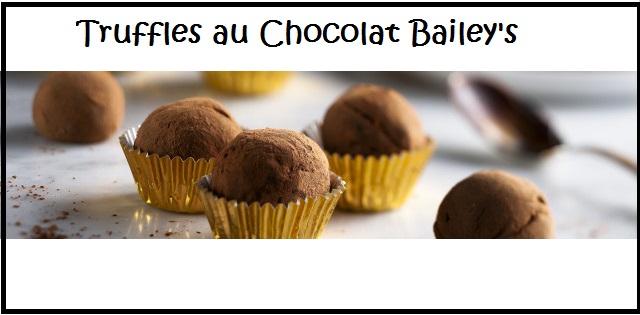 Truffes au Chocolat Baileys