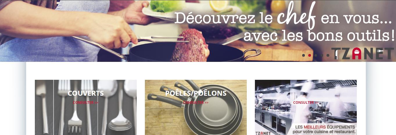 Tzanet Équipement de Restaurant en Ligne