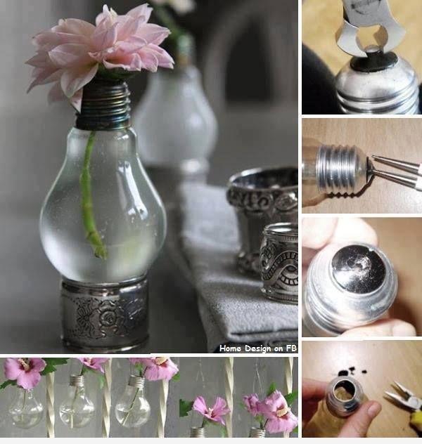 Une Ampoule comme Vase à Fleurs pour Décorer une Table