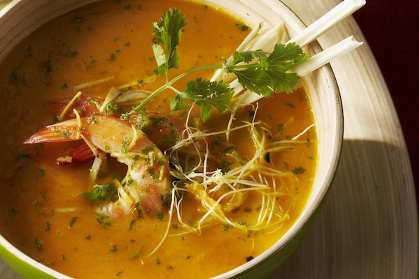 Photo Recette Velouté de Légumes aux Crevettes Marinées