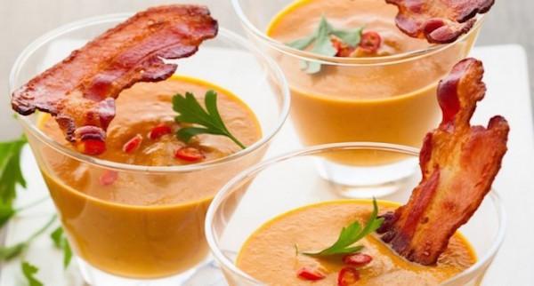 Velouté de Potiron Avocat et Bacon