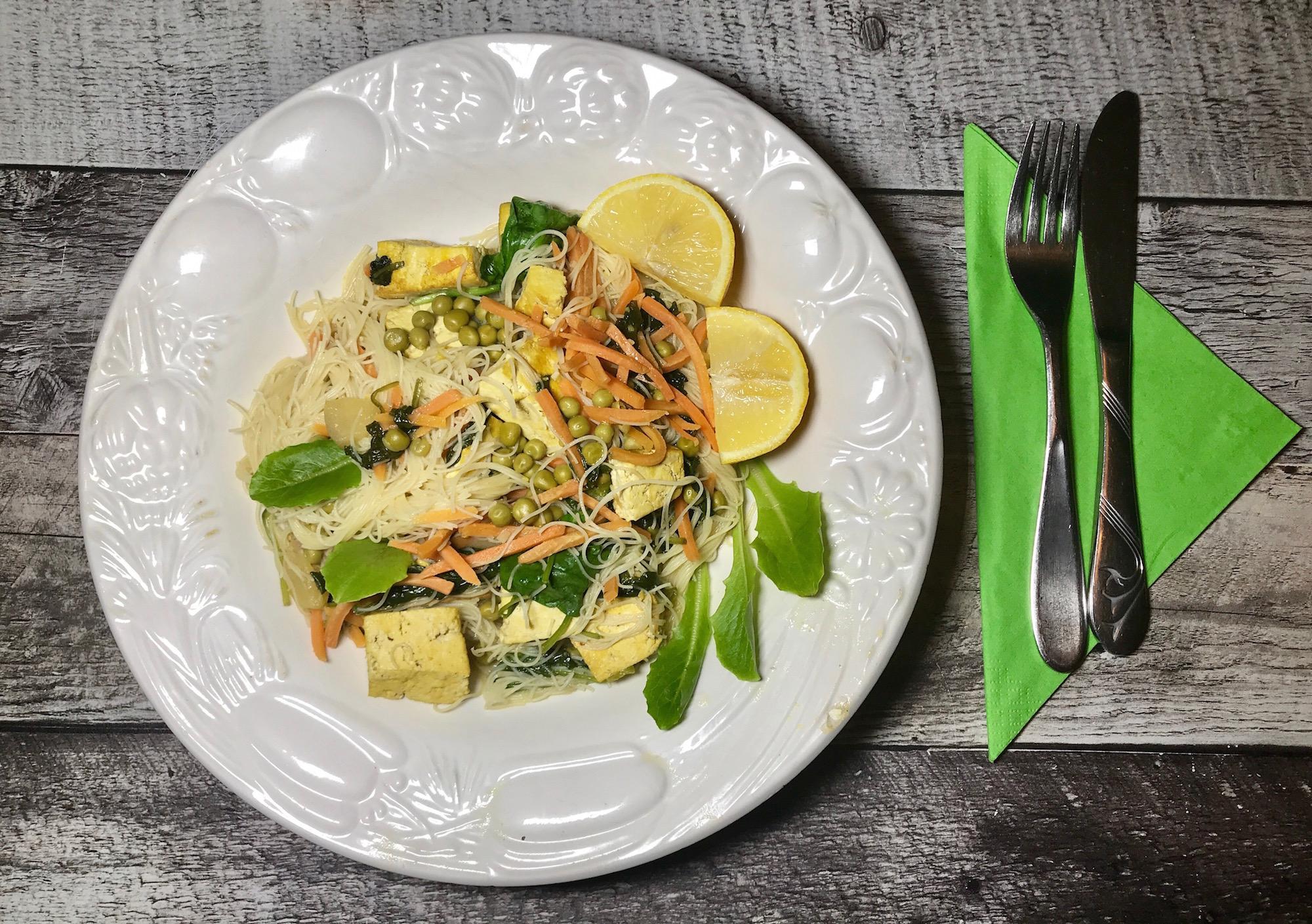 Vermicelle de Riz Tofu et Légumes
