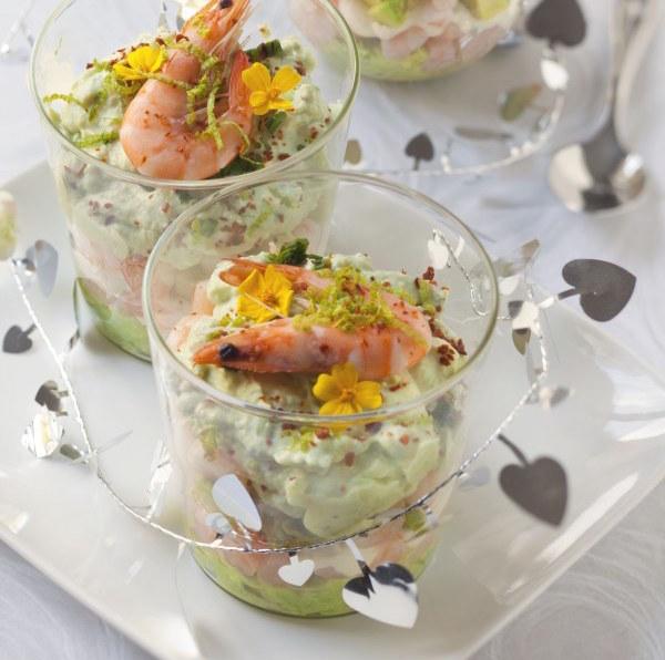 Photo Recette Verrines Avocats Crevettes et Fromage Frais