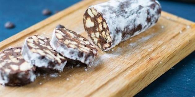 Vrai Faux Saucisson de Noël au Chocolat