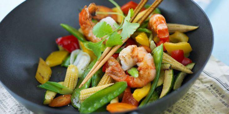 Photo Recette Wok de Crevettes aux Légumes Légèrement Relevé