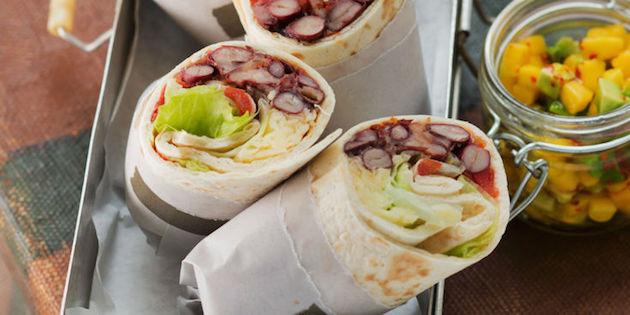 Photo Recette Wrap Végétarien aux Haricots Rouges