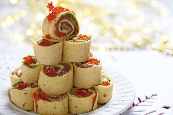 Photo Recette Wraps Apéritifs Salade, Saumon et Oeufs de Saumon