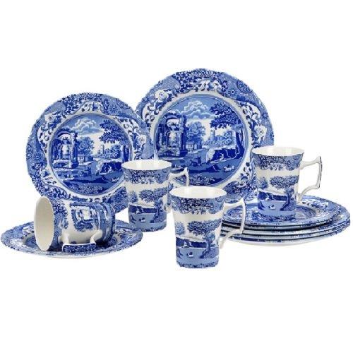 Service de Vaisselle 12 Pièces Spode Bleu Italien - 0