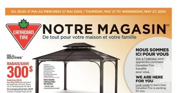 Circulaire Canadian Tire du 21 au 27 Mai 2020