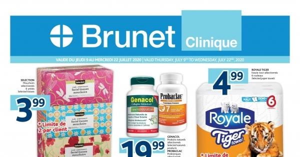 Circulaire Brunet - Pharmacie - Clinique du 9 au 22 Juillet 2020