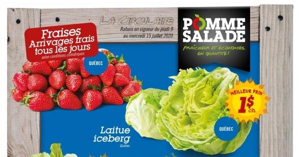 Circulaire Pomme Salade du  9 au 15 juillet 2020